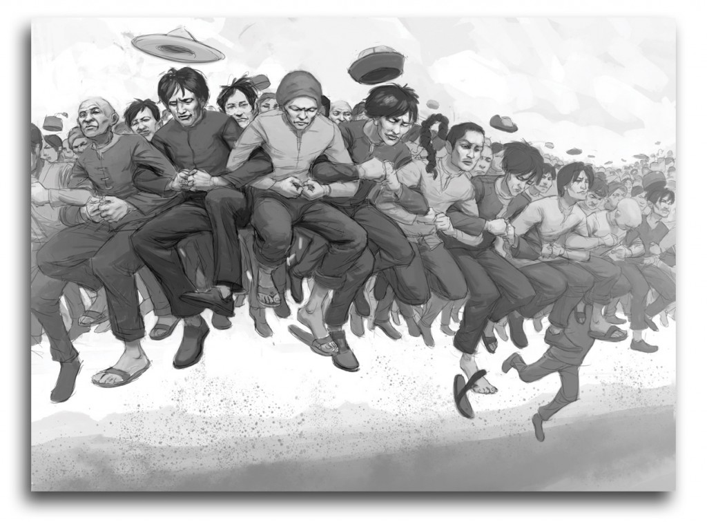 Great Leap Illustration Flattened